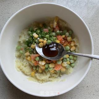 田园土豆饼的做法步骤:4